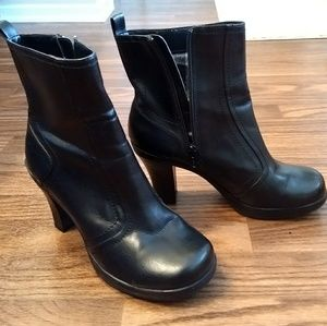 Mudd Faux Leather Ankle Boots